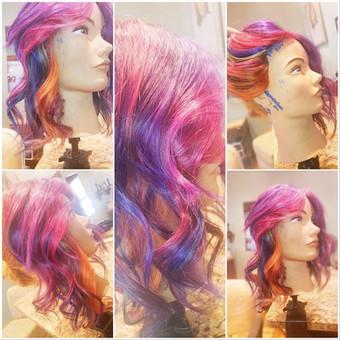 beautilful rainbow hair