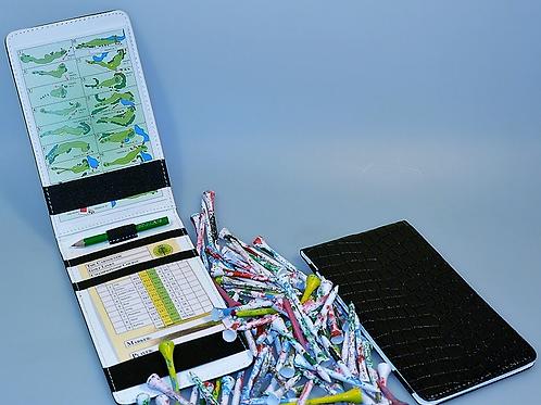 Golf Scorecard-Etui und Designer Tees