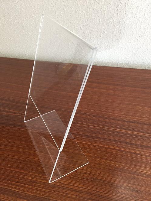 Fussaufsteller Acrylglas Format A5 hoch