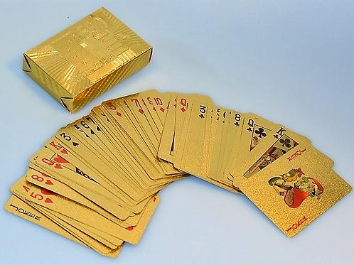 Echt vergoldete Jokerkarten