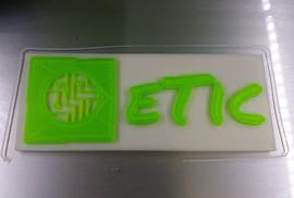 Logo do ETIC feito na impressora 3D Taur