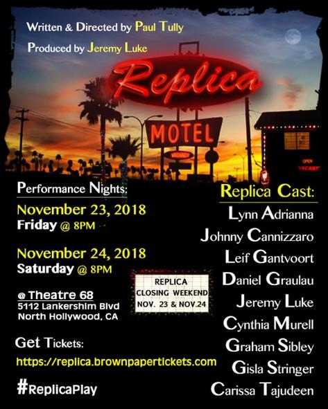 REPLICA : a new play I am doing!