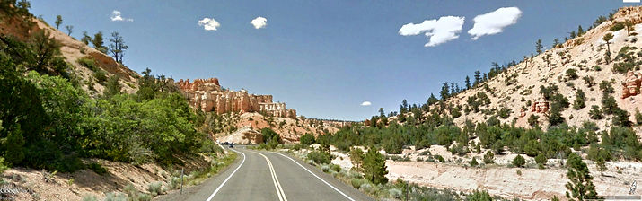 Photo of roadway in southern Utah