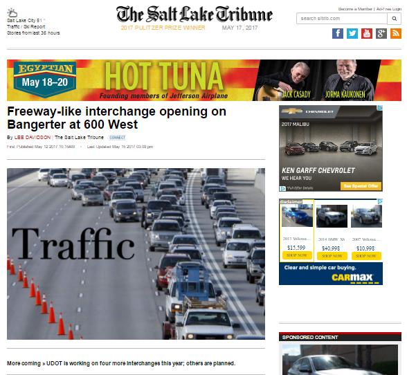 Tribune Freeway like interchange