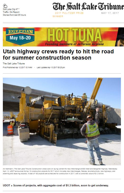 Tribune Utah highway crews