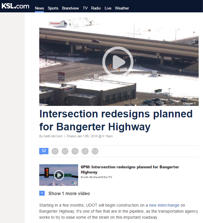 KSL Intersection redesign
