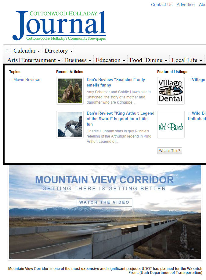 Journal UDOT upcoming
