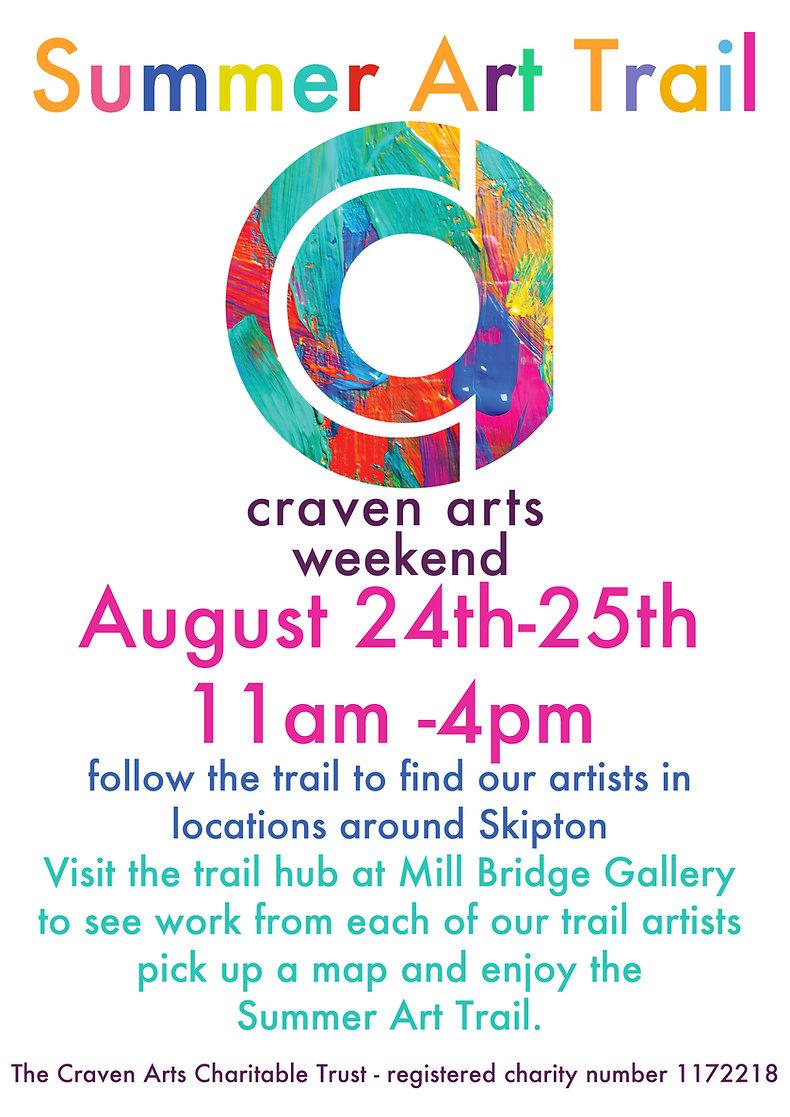 Craven Arts summer art trail 2019 poster
