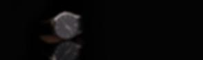 Fancy Luxury Leather Strap Watch on Shiny Black Surface