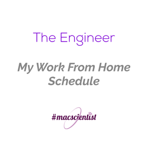 The Engineer: My Work From Home Schedule