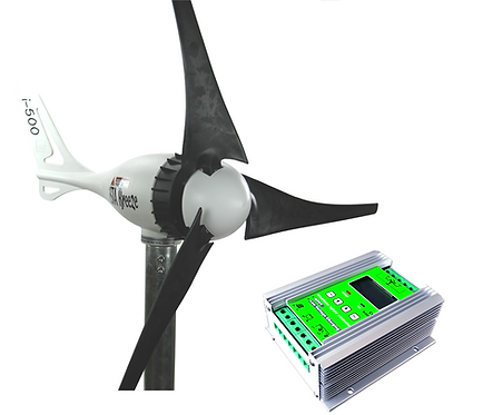 Aerogenerador 500w 12v con MPPT