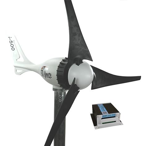 Aerogenerador 500w 12v con regulador hibrido