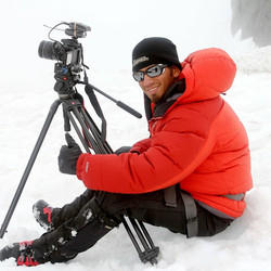 #TBT to filming a TV show that included climbing Mount Rainier. When it gets really hot, I look back