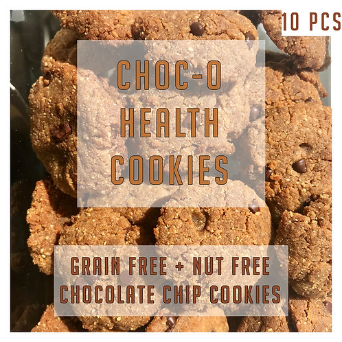 Grain Free + Nut Free Chocolate Chip Cookies 10 Pcs