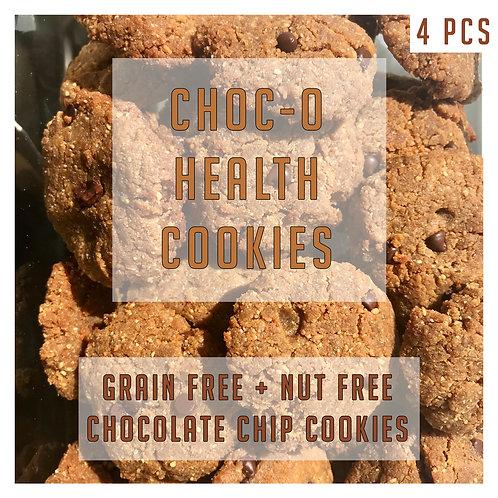 Grain Free + Nut Free Chocolate Chip Cookies 4 Pcs