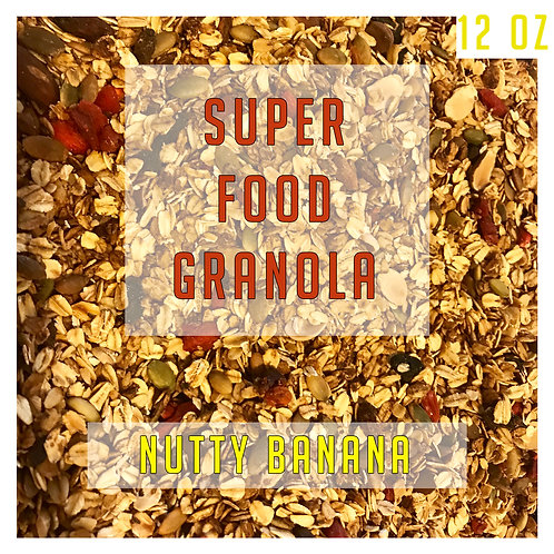 Superfood Nutty Banana Granola 12 Oz