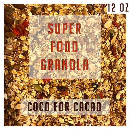 Superfood Coco for Cacao Granola 12 Oz