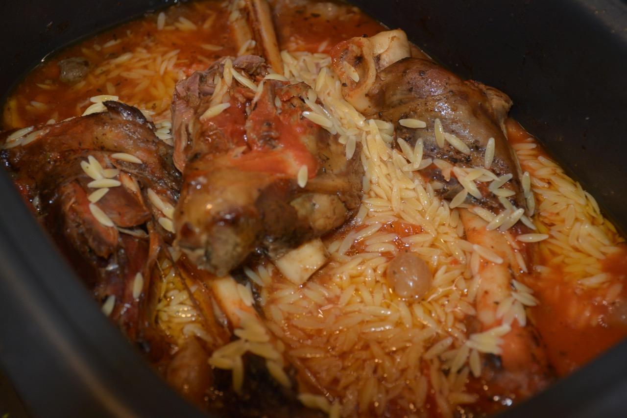 Youvetsi (orzo and lamb shanks)