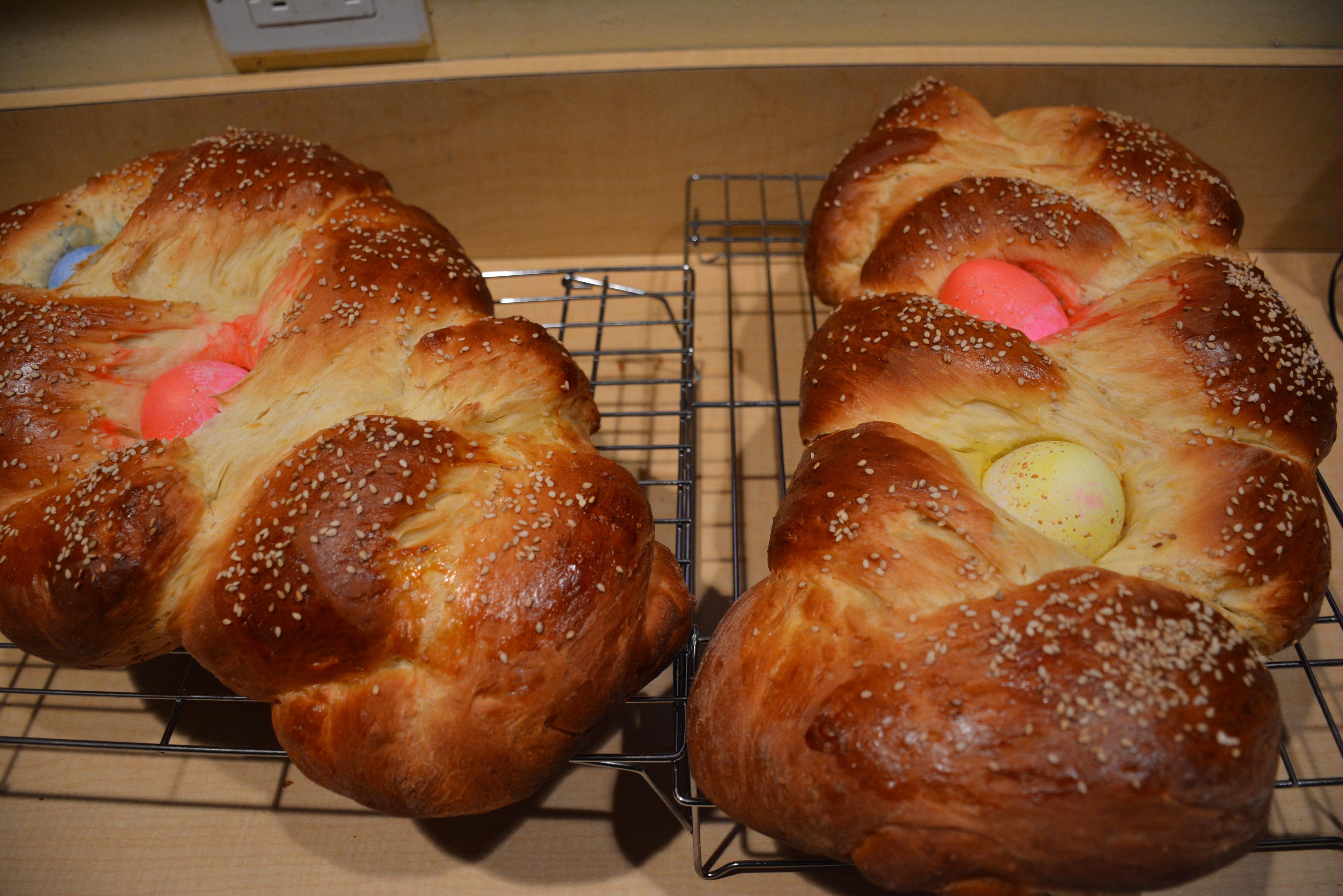 Tsoureki (Greek Easter bread)