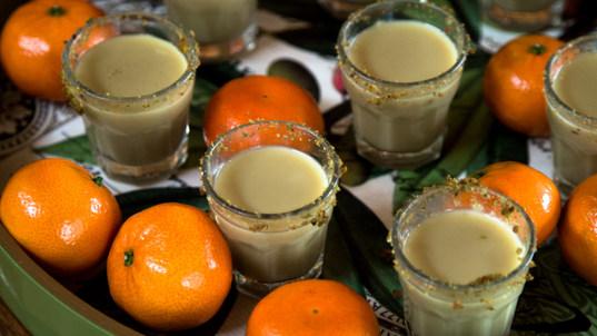 Pistachio milk and clemmies