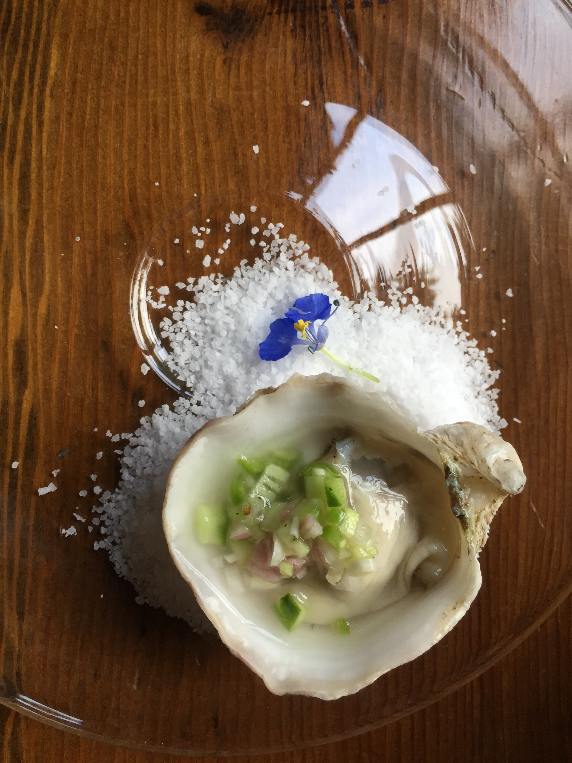Oyster with Arak and cucumber