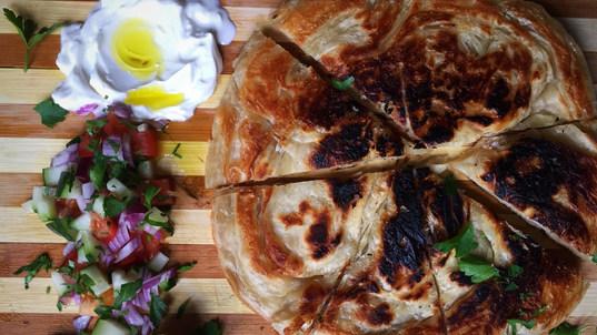 Malawach yemen bread, fried