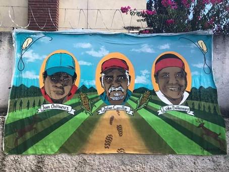Resguardado el mural de activistas asesinados