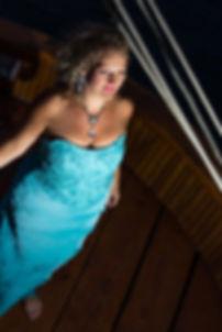 Dramatic soprano Susan Tsagkaris backstage