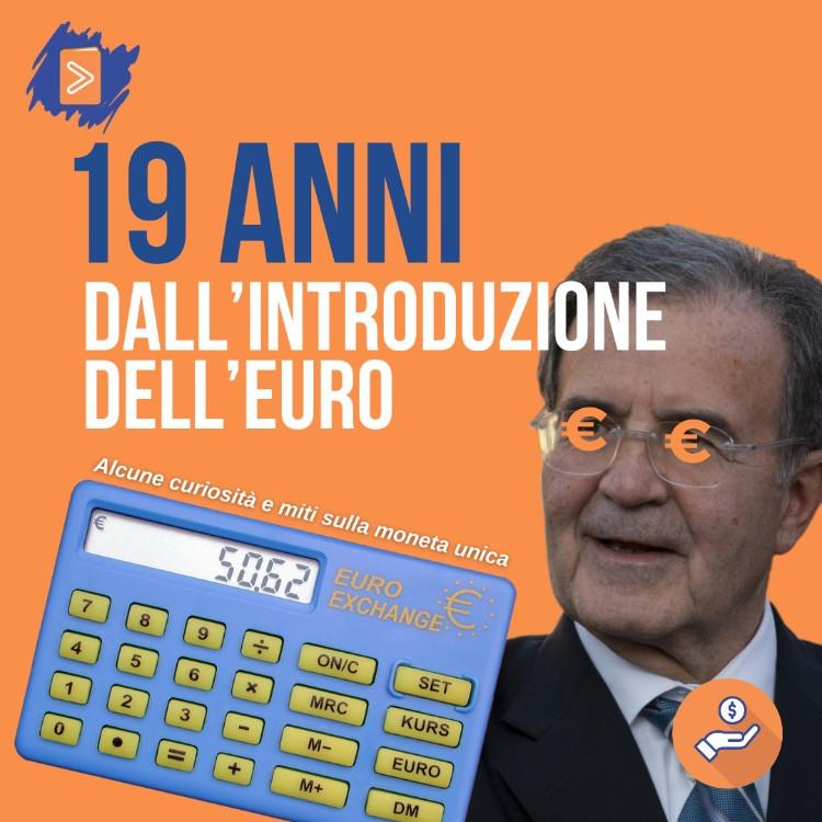 Romano Prodi e calcolatrice euro lire