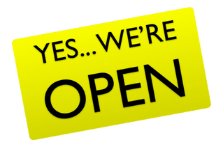 It's Official, We're Open!