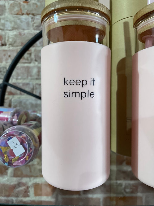 Keep it Simple Glass Tumbler