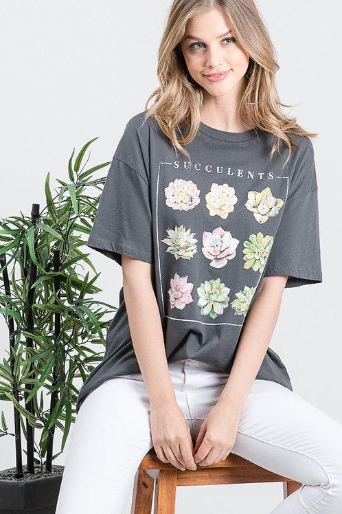 Succulent Oversized Tee