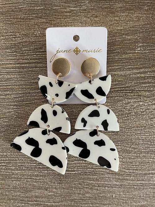 Triple Semi-Circle Cow Studs