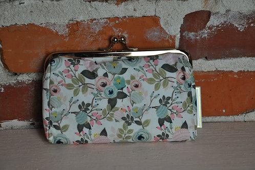 Peach Floral Snap Pill Case