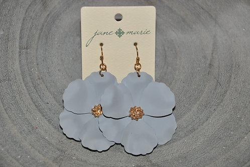 Grey Flower Dangles