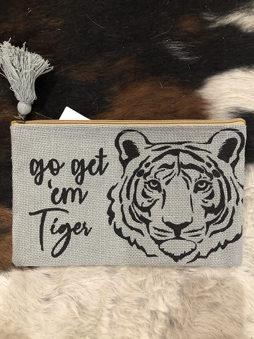 Go get 'em tiger cosmetic bag