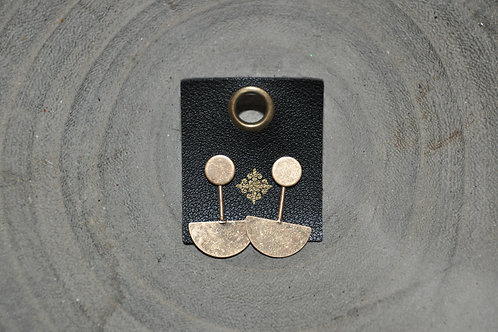 Square Leather Tag Earrings