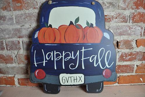 Happy Fall Door Hanger