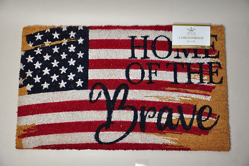 Home of the Brave Door Mat