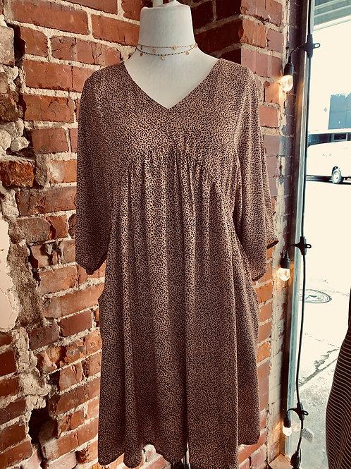 Amelia Leopard Babydoll Dress