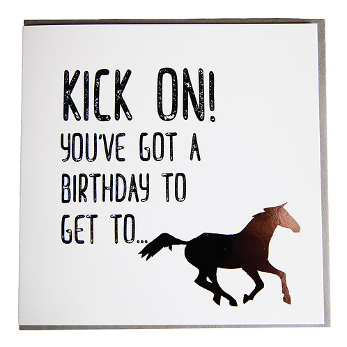 Gubblecote Card - Kick On!