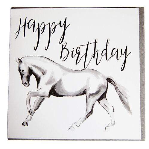 Gubblecote Card - Happy Birthday Horsedrawn