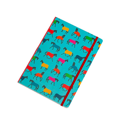 Horse Rugs Perfect Bound A5 Lined Notebook