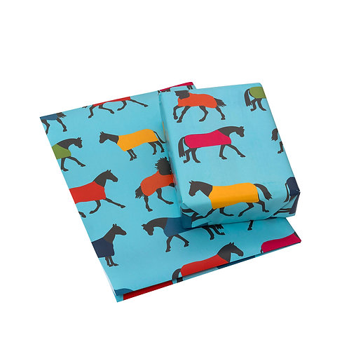 Horse Rugs Wrapping Paper