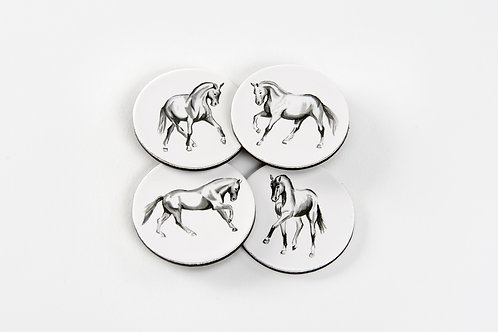 Horsedrawn Set of Four Magnets