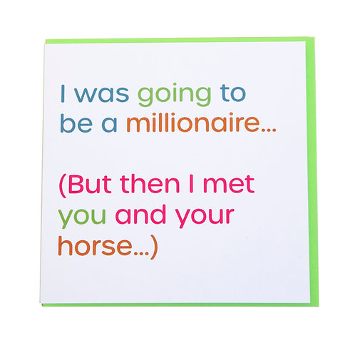 Gubblecote Card - Millionaire