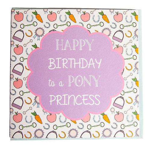 Gubblecote Card - Happy Birthday Pony Princess