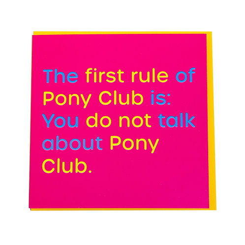 Gubblecote Card - Pony Club