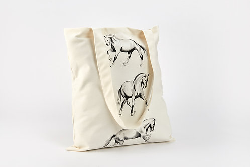 Horsedrawn Canvas Tote Bag