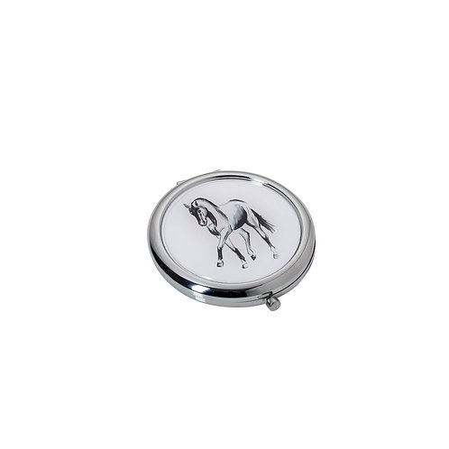 Horsedrawn Compact Mirror with Giftbox